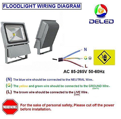 51xFG R%2BW6L deled led floodlight 50w white color waterproof outdoor ac85 265v led flood light wiring diagram at gsmportal.co