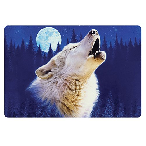 Bigcardesigns Blue Wolf Designs Doormat Bathroom Kitchen Floor Mats