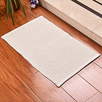 Amazon.com: REMEE Cotton Rag Rugs for Living Room,Bed Room ...