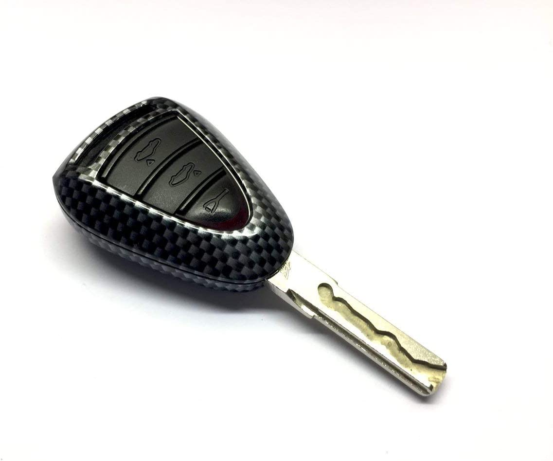 Hotsteelies Carbon Fiber Remote Key Shell Cover for Porsche Silver Head 997.1 987 Cayman