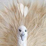 White Peacock Decor, Nursery Wall Decor, Faux Taxidermy Peacock, Albino Peacock, Peacock Decor