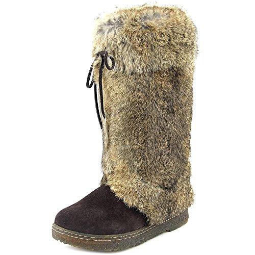 Bearpaw Elsa Kvinner Rund Tå Skinn Snø Boot Sjokolade