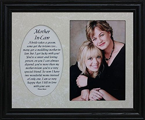 PersonalizedbyJoyceBoyce.com 8x10 MOTHER-IN-LAW ~ Photo & Poetry Frame ~ Holds a Portrait 5x7 Picture (BLACK #830)