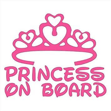 Baby Princess On Board Car Sticker Motorcycle decal vinyl Car Window Sticke