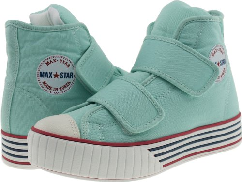 top Velcro Sneakers Maxstar C30 Platform Canvas Mint Stripe High Shoes 0q5t7xR5