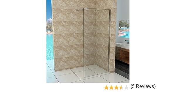 Walk-in vidrio de 10 mm – Mampara de ducha 30 – 140 cm: Amazon.es: Bricolaje y herramientas