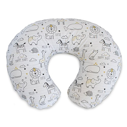 Boppy Original Nursing Pillow and Positioner, Notebook Black and Gold, Cotton...