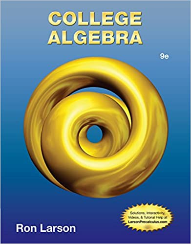 College Algebra: Ron Larson: 9781133963028: Amazon com: Books