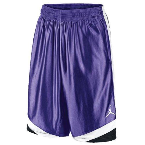Nike Air Jordan Men's Court Vision Basketball Shorts 576638 Size L Purple 423