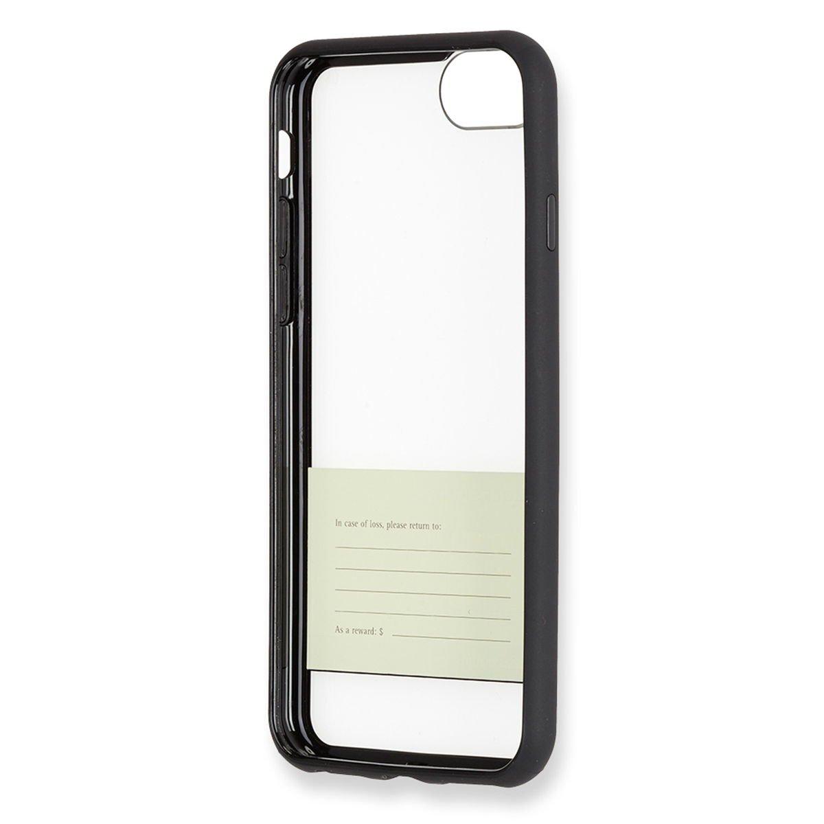 Moleskine Hartschalenetui (Durchsichtige Papierbanderole) geeignet für Iphone 7, schwarz