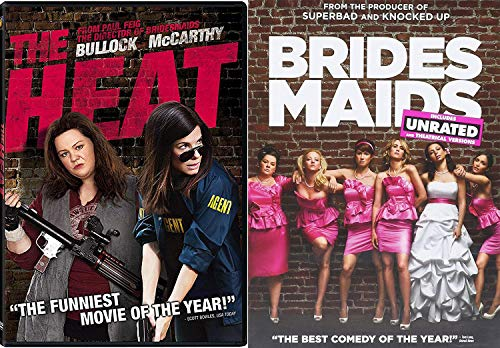 Gut-busting Comedy Upside Down 2 Pack Brides Maids + The Heat DVD Set Funny Ladies 2 Movies double feature bundle