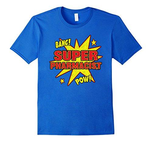 Mens Super Pharmacist T-Shirt Super Power Halloween Disguise Gif Medium Royal Blue -