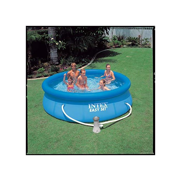 Piscina circular de 305 cm de diámetro (altura 76 cm) Incluye depuradora de cartucho de 1.250 l/h, que utiliza filtros de cartucho tipo H (incluido) Capacidad: 3.853 litros