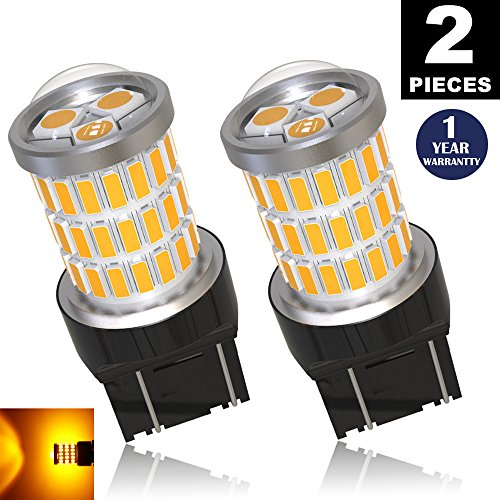 LUYED 2 x Super Bright 9-30v 7440 7441 7443 7444 992 T20 Led Bulb Used For Turn Signal,Corner Lights,Blinker Lights,Amber