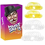 Must Say It Mouth Piece Guard Challenge Game with Phrase Guessing Phone App (10-Large Clear and 10 Medium Yellow) (20-Pack)