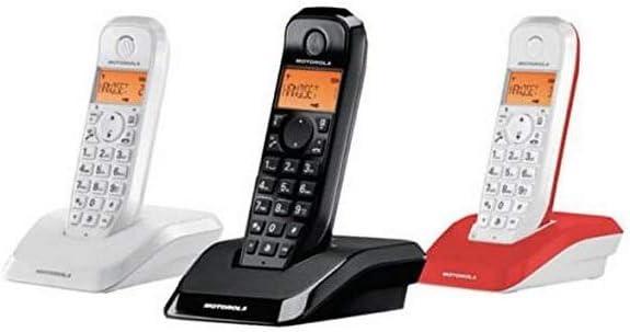 Motorola S12 Trio - Teléfono Fijo, Color Blanco, Negro y Rojo: Amazon.es: Electrónica