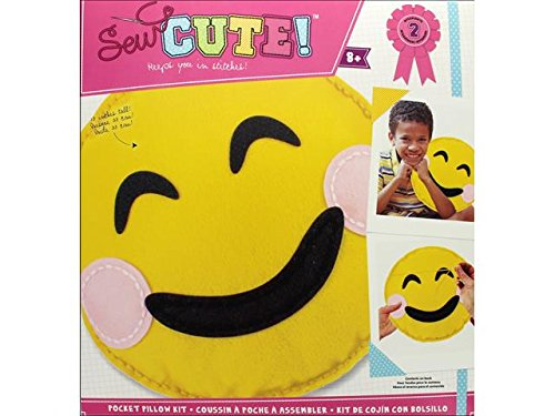 Sew Cute Emoji Smile Pillow Felt Kit by Colorbok