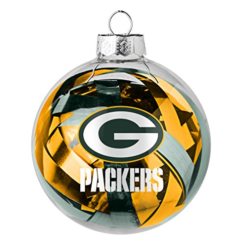 NFL Green Bay Packers Large Tinsel Ball Ornament