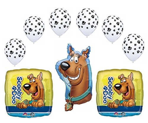 Scooby Doo Party Balloon Decoration Bouquet (9 Pieces) by Party Supplies (Treat Scooby Doo Bags)