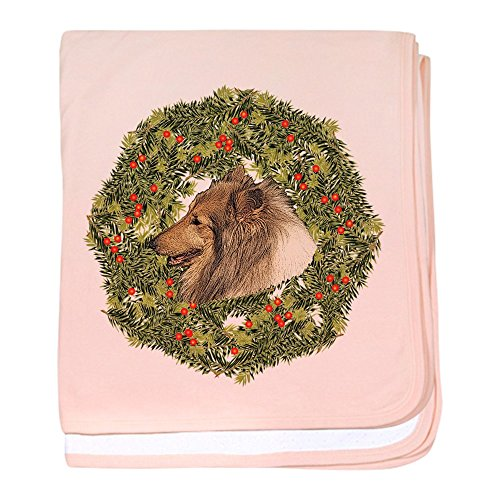- CafePress - Collie Xmas Wreath - Baby Blanket, Super Soft Newborn Swaddle