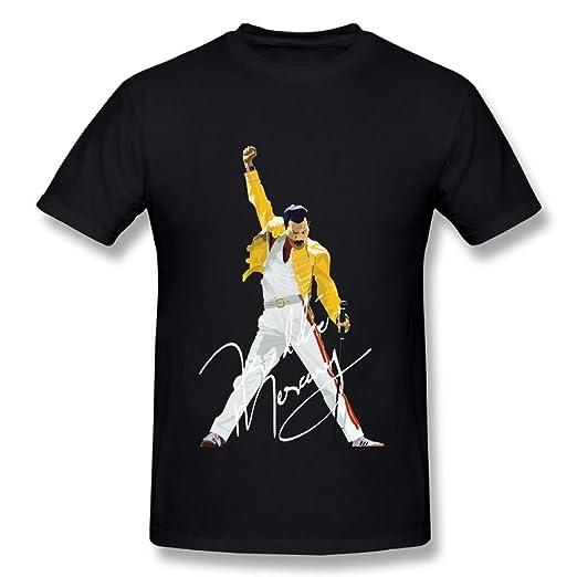 3a3f02fd2 Amazon.com: JohnHA Men's Freddie Mercury Cotton T-Shirt Black: Clothing