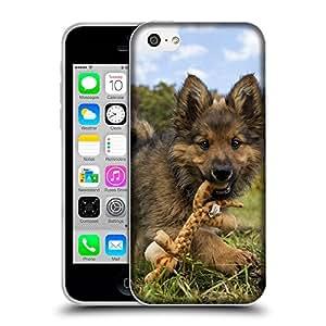 Super Galaxy Coque de Protection TPU Silicone Case pour // V00000849 Patrón del perro de perrito // Apple iPhone 5C