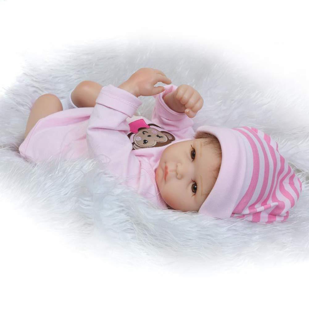 IIWOJ Lovely Reborn Baby Doll, Soft Silikon lebensikes 20.47 Inch lebensikes Silikon Neugeborene-Girl es Gifts efcc11