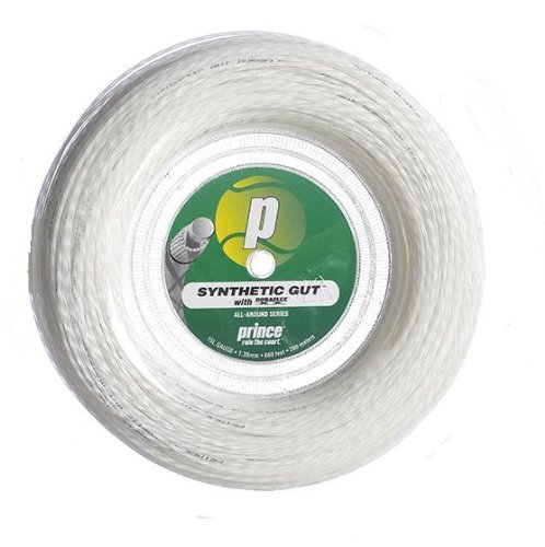 Prince Synthetic Gut with Duraflex 15l White Tennis String Reel ()