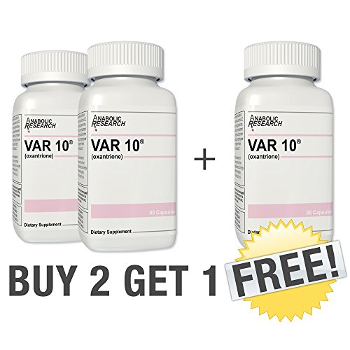 - VAR10 ***BUY 2 GET 1 FREE*** Increase speed and strength, lean muscle building and toning. 3 Month Supply