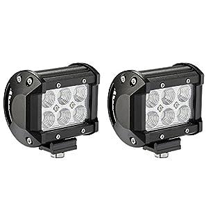 LED Light Bar, Northpole Light [2 Pack] 18W CREE Flood LED Pods LED Work Lights Driving Fog Lights for Off-road, Truck, Car, ATV, SUV, Jeep