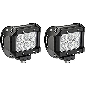 LED Light Bar, Northpole Light [2 Pack] 18W CREE Flood LED Pods LED Work Lights Driving Fog Lights for Off-road, Truck, Car, ATV, SUV, Jeep