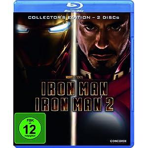 [Amazon] Wieder da! Iron Man 1+2 als Collectors Edition auf Blu ray für inkl. Versand nur 9,99€
