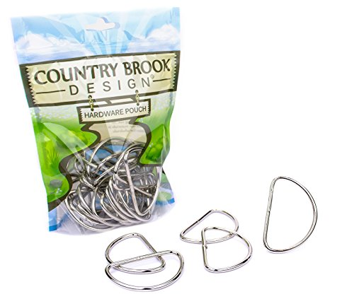 Country Brook Design - 2 Inch Nickel Plated Welded Lite D-Rings (10 Pack) (10k Gold Buckle Ring)