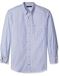 Nautica Men's Big and Tall Long Sleeve Vertical Stripe...