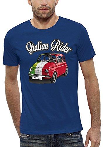 Royal Italian Homme Evolution Pixel Bleu shirt T Rider wTqpx7ZO