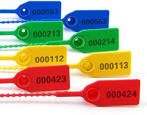 - Bridas de Seguridad con Cuentas y Cierre Herm/ético Sellos ZhengCheng 100 Unidades R Color Rojo