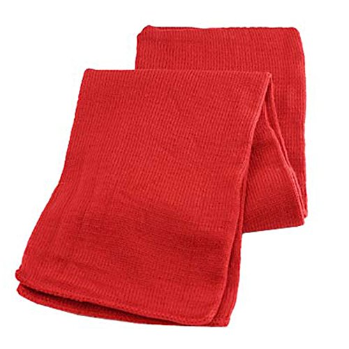 Gelante Men Classic Knit Winter Scarf Warm Double layer-2040B-Red