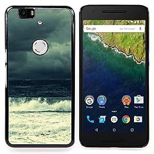 SKCASE Center / Funda Carcasa protectora - Ola de mar;;;;;;;; - Huawei Google Nexus 6P