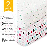Crib Sheets for Baby - 2 Unisex Bedding ...