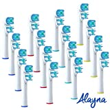 Alayna Oral B Replacement Brush Heads- Pack Of 16 Oralb Braun Dual Clean Electric Toothbrush Heads- Generic Brushes Compatible With Most Of The Oral-B Handles.