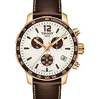 Tissot Men's Quartz Stainless Steel Watch, Color:Brown (Model: T0954173603701)