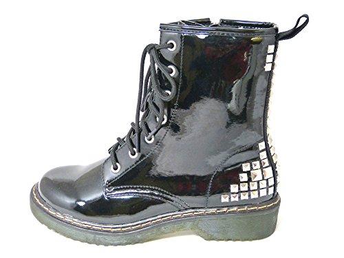 42 donna Black stivali lacci numeri Anfibi 12084 zip e 36 con Combat da stile vintage punk TxSqU