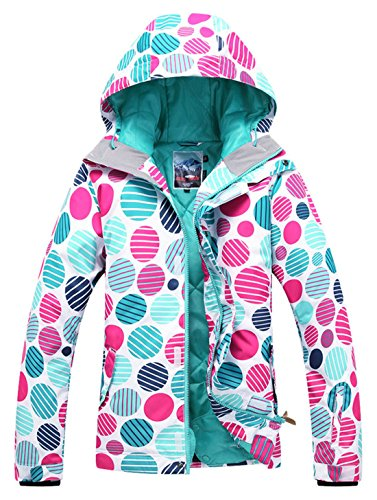 APTRO Women's High Windproof Technology Colorfull Printed Ski Jacket Style #37 Size S by APTRO