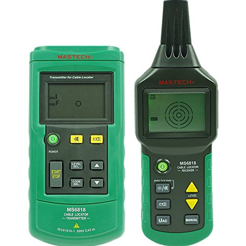 MASTECH MS6818 AC/DC 12V-400V High Sensitivity Advanced Wall Underground Wire Cable Tracker Locator Detector Tester for Electrical Technicians