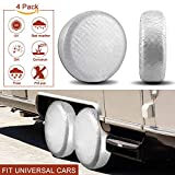 """YBB Set of 4 RV Tire Wheel Covers, Trailer Spare Tire Covers, Waterproof UV Sun Tire Protector Covers for Car Camper, Fits 24"""" to 26"""" Tire Diameters"""