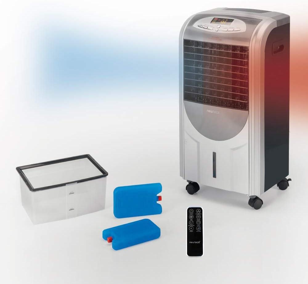 NEWTECK - Purificador de Aire para Hogar 4 en 1 con Aniones y Filtro Antipolen (hasta el 99.99% de Partículas). F. Frío, Calor, Humidifica y Purifica. Humidificador de Aire Portátil. Incluye Mando