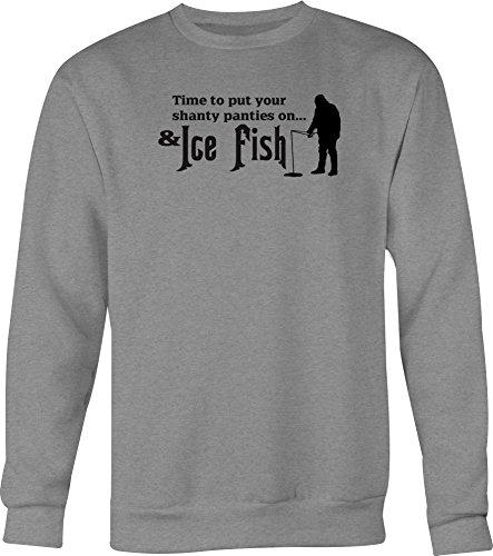 Distress Time to Put Shanty Panties on & Ice Fish Tshirt - Medium
