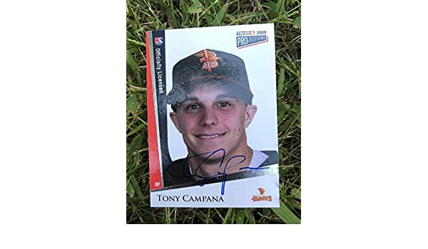 ee837e37f Tony Campana Cubs 2009 Projections Auto Signed Baseball Card#29 - Tristar  Productions Certified - MLB Autographed Baseball Cards at Amazon's Sports  ...
