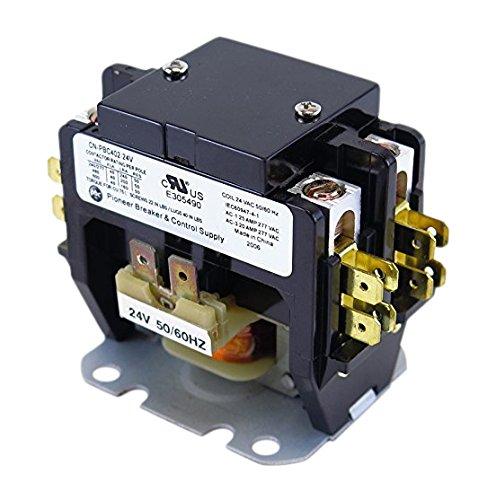 YuCo CN-PBC402-24 DEFINITE PURPOSE CONTACTOR 40A 2P 24V 40 FLA 50 RES FITS DP40C2P-F AC & HEATING CONTACTOR AIR CONDITIONING CONTACTOR HVAC CONTACTOR Air Conditioning Contactor