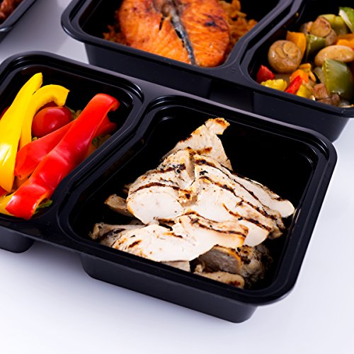 Pakkon 2 Compartment Plastic Bento Lunch Box With Airtight